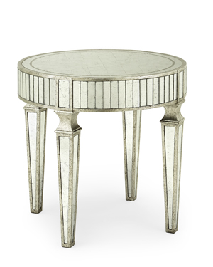John Richard Eglomise Lamp Table
