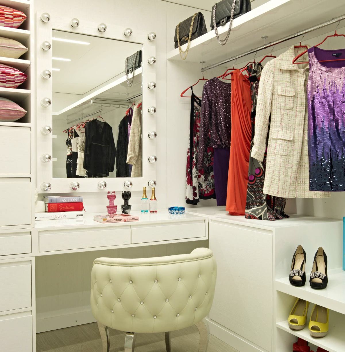 We Turned The Small Closet Located Up The Little Stairs In Her Room Into A  Dressing/vanity Area. I Found The Photo Below On Pinterest To Use For  Inspiration ...