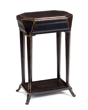 John Richard Black Laquer End Table