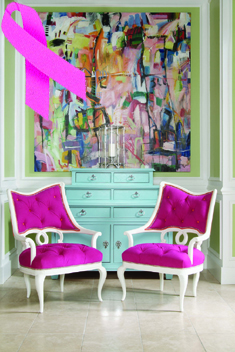 Breast cancer, thinkpink, pink, Century, pink chairs