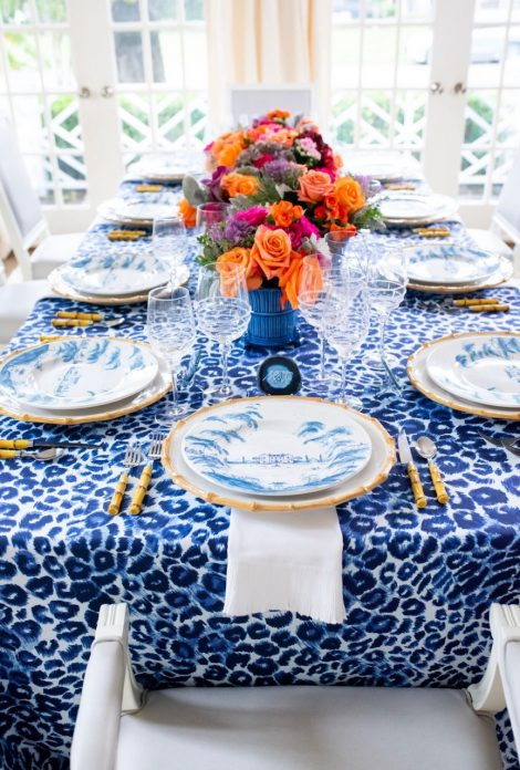 IBB Feline Fabric Tablescape 1