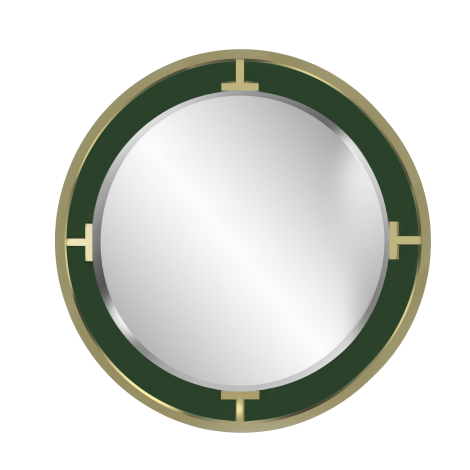 Connected Mirror in Malachite & Gold