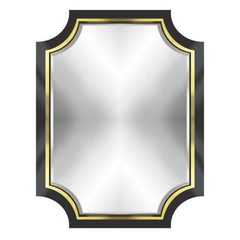 Cora Mirror in Black & Gold