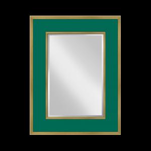 Sloane Mirror in Malachite & Gold