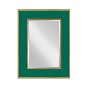 Sloane Mirror in Malachite & Gold