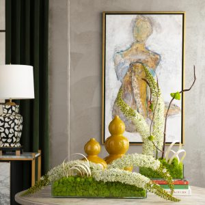Room design by Lauren Macnak, IBB Designer featuring the Candace and Leah Permanent Botanical