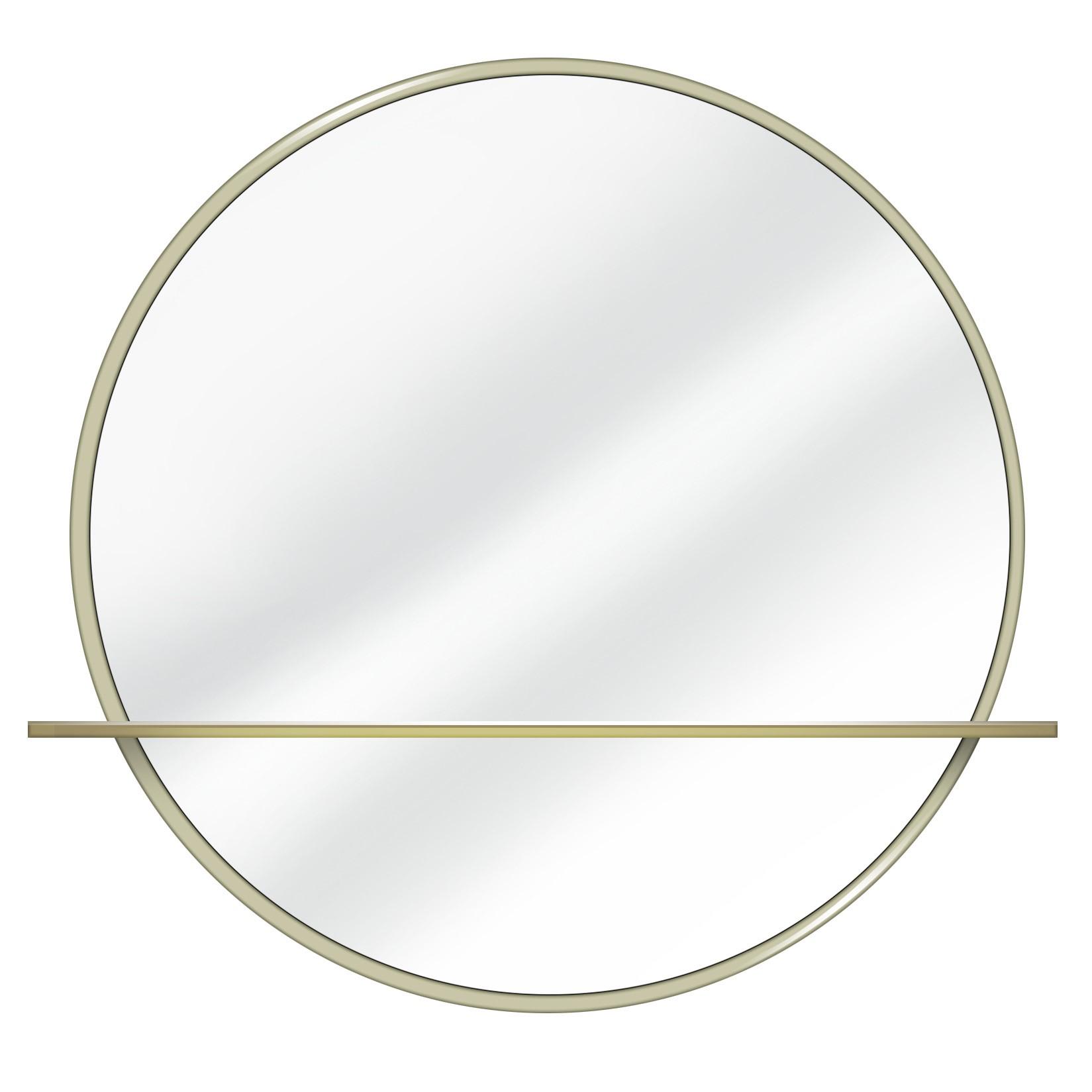 HALO Round Dresser Mirror with Shelf
